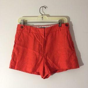 J.Crew Red Linen Shorts